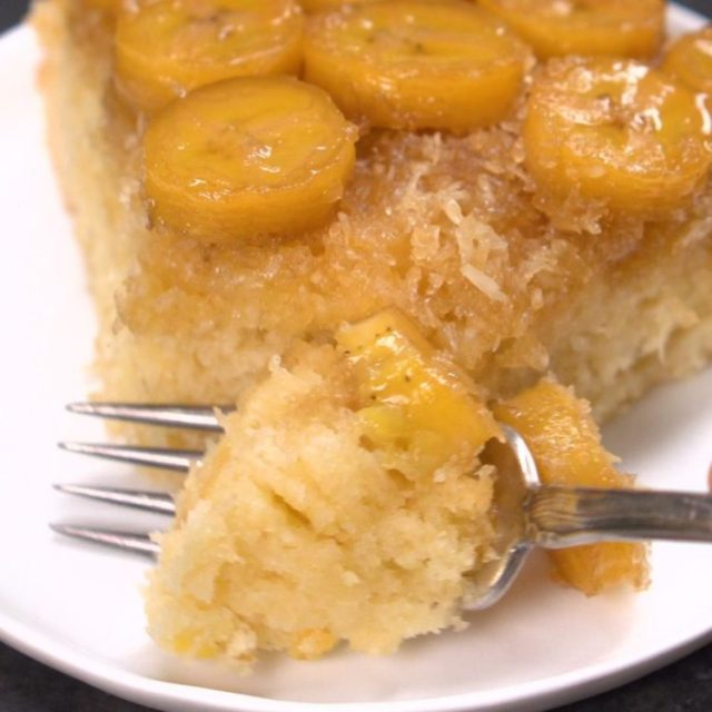 Banana Coconut Upside Down Cake crave