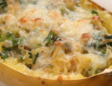 Cheesy Broccolini Spaghetti Squash featured image