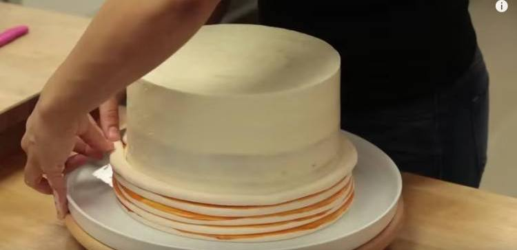 Stack of pancakes actually made of cake mix.