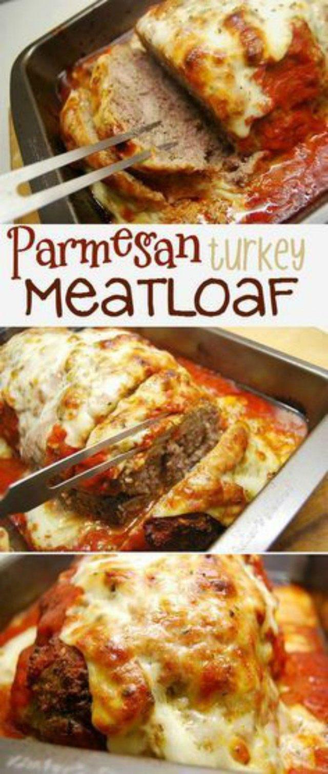 Parmesan crusted meatloaf.