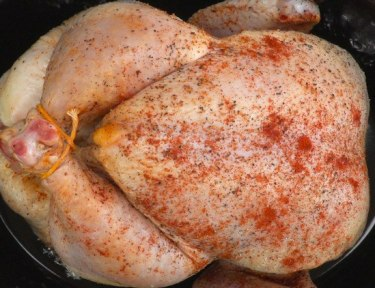 Slow Cooker Whole Chicken in pot