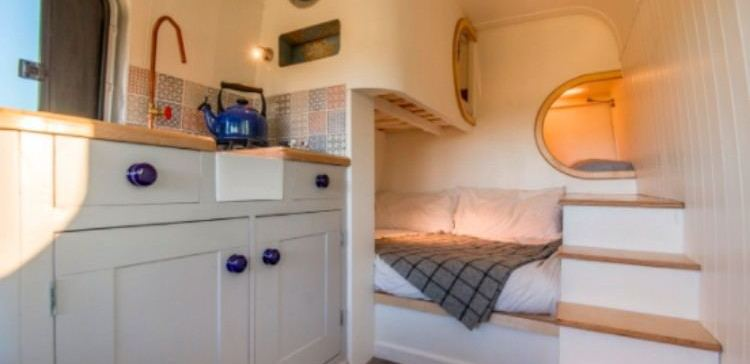 view of completed camper van conversion
