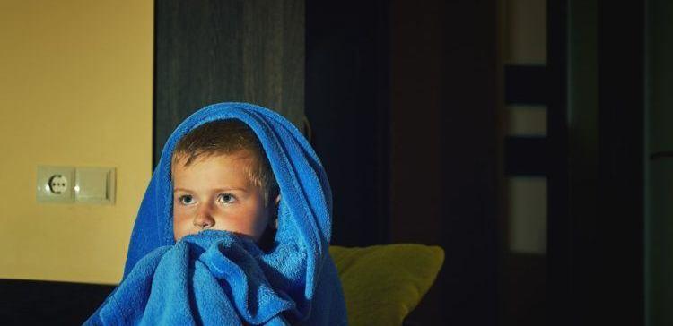 Image of scared boy.