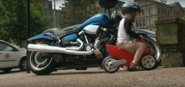 Image of toddler parking bike.