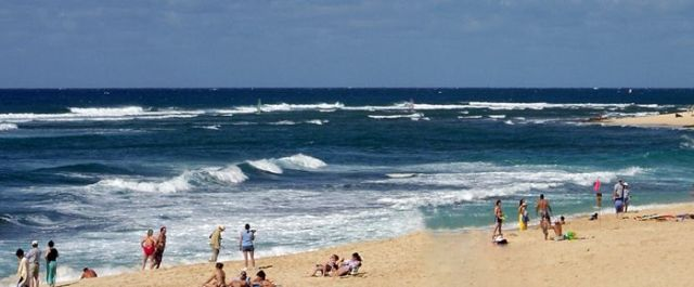 Beachfront in Hawaii.