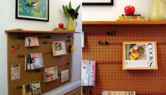 bookshelf pegboard