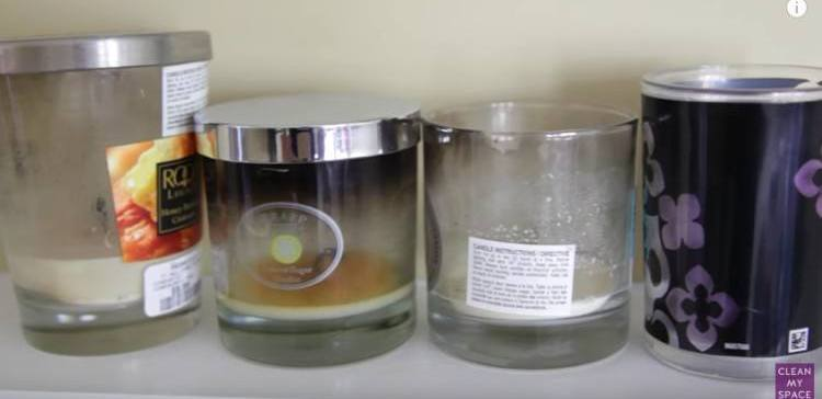 Image of empty candle jars.