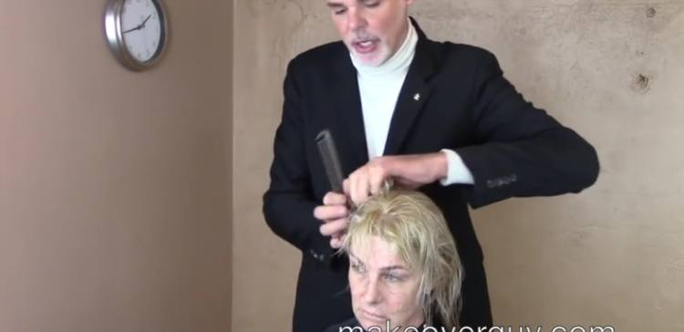 Woman changes her frumpy look with the Makeover Guy.
