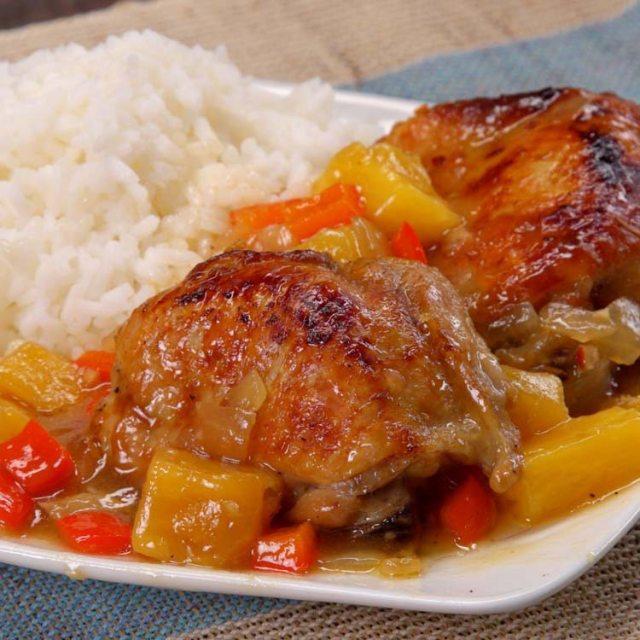 Slow Cooker Pineapple Chicken 1