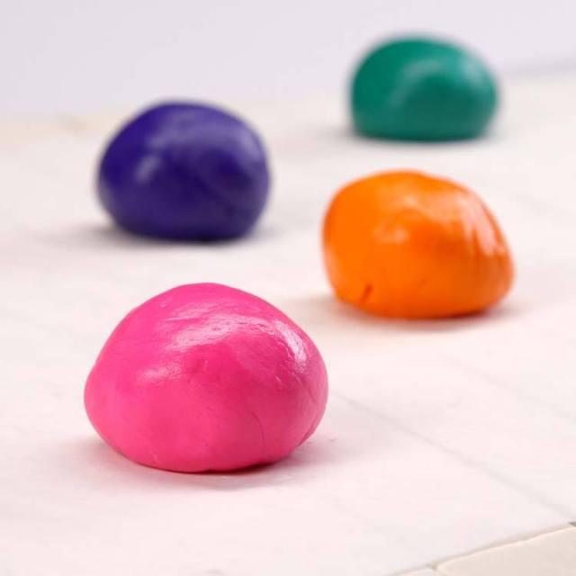 Homemade Marshmallow Playdough balls
