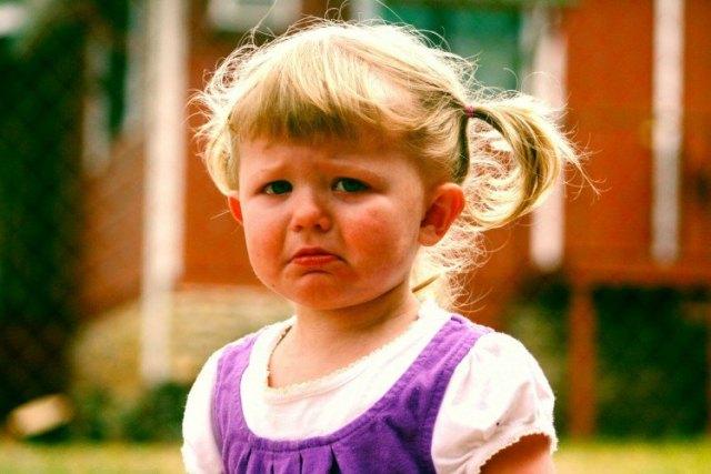 Image of sad toddler.