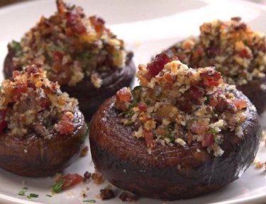 Bacon Parmesan Stuffed Mushrooms
