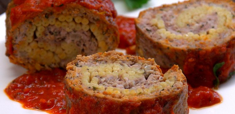 Pasta-Stuffed Meatloaf Roll FI