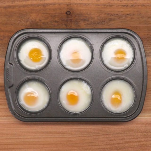 Muffin Tin Poached Eggs 2