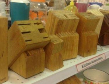 knife blocks on a retail shelf