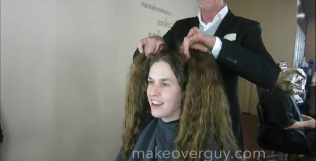 Image of woman in salon chair.