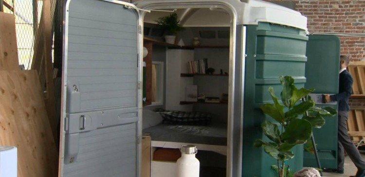 Image of porta potty home.