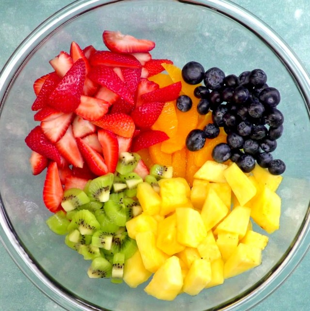 Summer Fruit Salad with Honey Lime Dressing 7