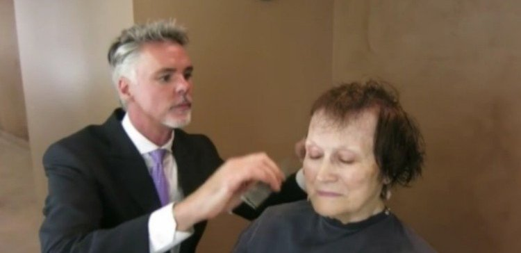 The Makeover Guy cutting a client's hair