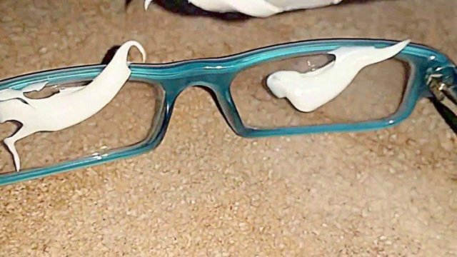 toothpaste on glasses