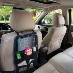 organize back seat of car