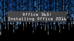 Slide for Installing Microsoft Office 2016