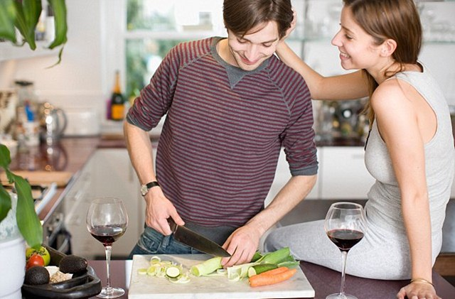 Image result for woman love man cook