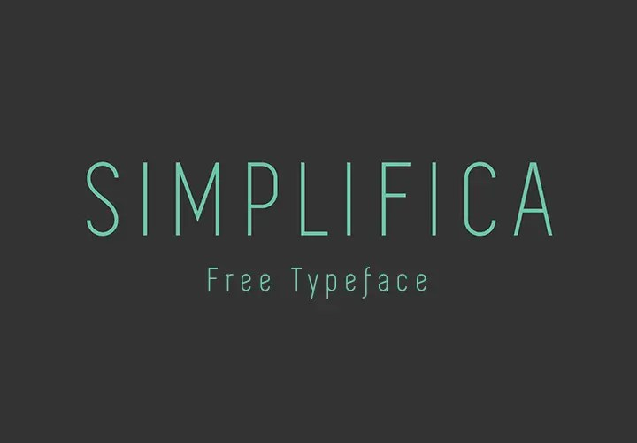 SIMPLIFICA-free-font