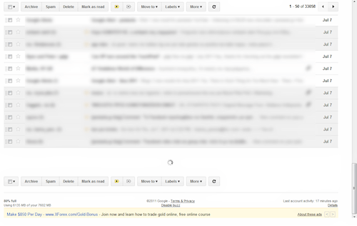 gmail auto load new conversations mockup