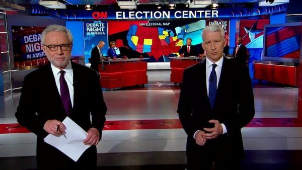 Courtesy CNN. CNN's debate coverage in 2012.