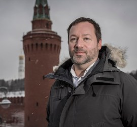 Nathan Hodge, newly appointed CNN Moscow bureau chief seen beside the Kremlin, Moscow, January 11 2018 Photographer: Dmitri Beliakov
