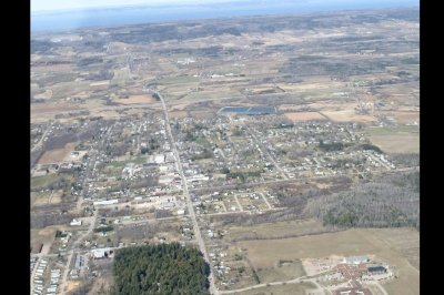 Berwick, Nova Scotia Oblique Airphoto