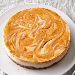 Small Of Pumpkin Swirl Cheesecake