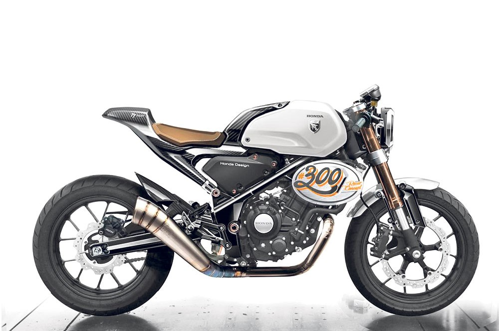 2018 honda 300f. Plain 2018 Although This Time In The Cafe Racer Avatar The 300 Cafe Racer Concept  Was Showcased Sometime Last Year If I Recall Right But Now There Are CAD Drawing For 2018 Honda 300f