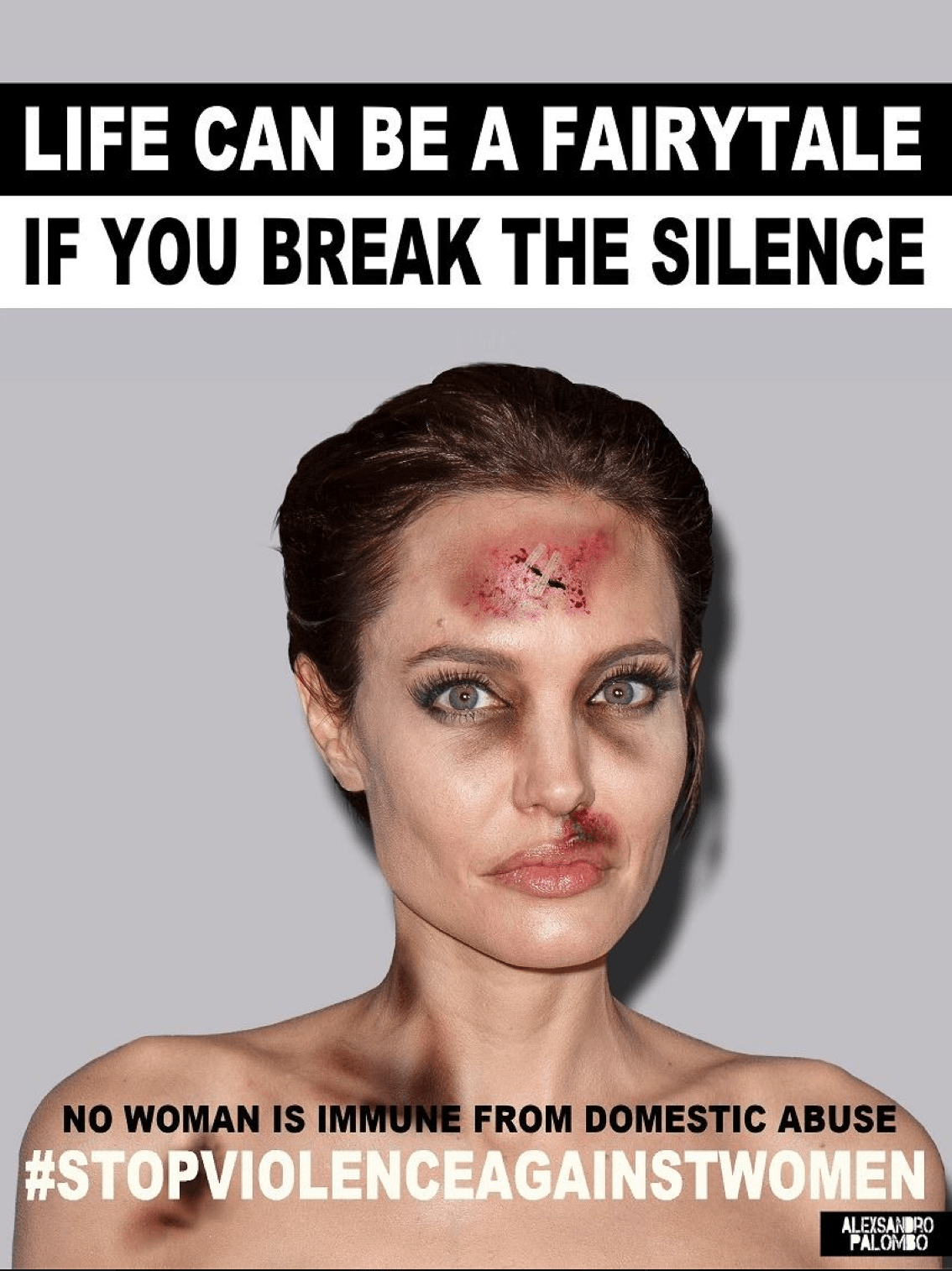 Angelina Jolie, Kendall Jenner, and Kim Kardashian Appear Bruised and Beaten in Jarring Anti-Violence Ads forecast