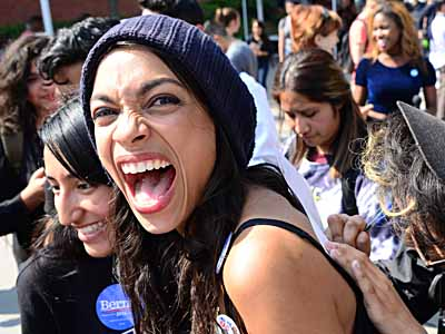 Actress Rosario Dawson and other celebs passionately help register students to vote and support Bernie Sanders at East Los Angeles College and Cal State Los Angeles in Los Angeles, Ca   Picture by: London Entertainment/Splash   Ref: LELA 100516 A  Splash News and Pictures Los Angeles: 310-821-2666 New York: 212-619-2666 London: 207-107-2666 photodesk@splashnews.com www.splashnews.com