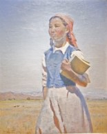 Semon-Afanasevich-Chuikov-A-Daughter-of-Soviet-Kirghizia-1950-Oil-on-Canvas-47-x-37-240x300