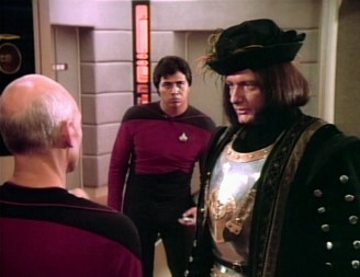 Picture of Q aboard the Enterprise