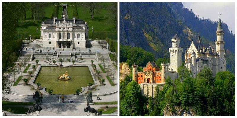 Linderhof Palace Ettal and Neuschwanstein Castle Oberammergau
