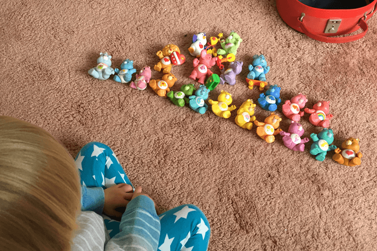 toby-playing-with-my-old-care-bears
