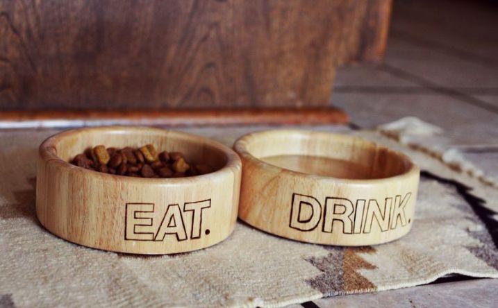 Wood Burned Dog Bowls 2