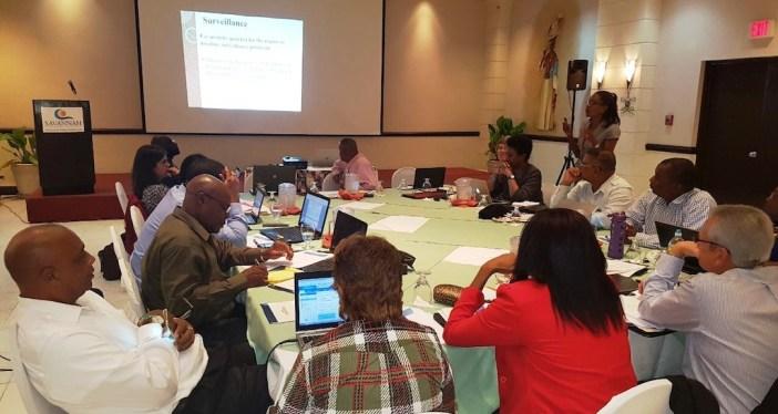 The meeting in progress (Photo via OECS)