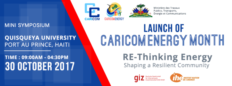 CARICOM Energy Month launch banner FINAL