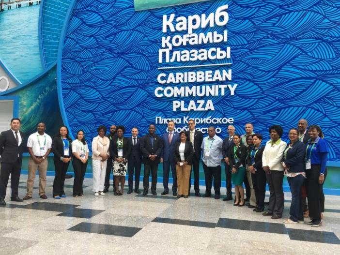 CARICOM Ministers of Government, and representatives of Member States and CARICOM pose for a photograph at Expo Astana