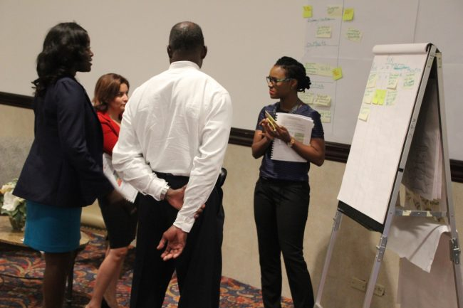 Participants during the MfDR workshop in Jamaica, hosted and funded by CDB. (photo via CDB)