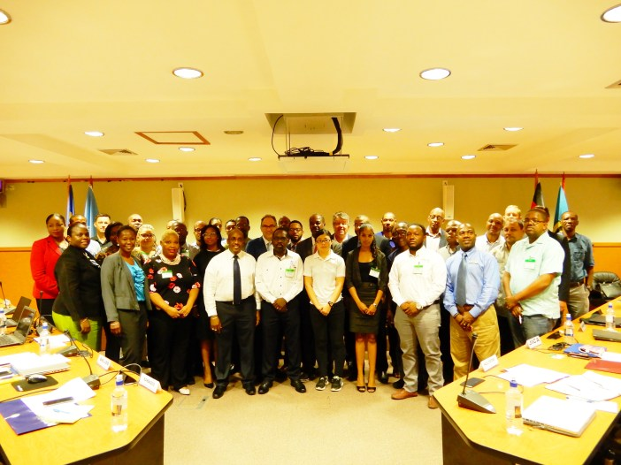 Participants at the Workshop held in St. Vincent and the Grenadines, 2017