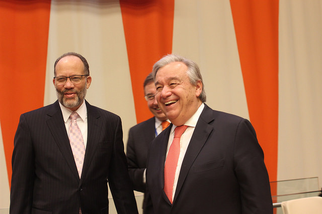 Secretary-General at the CARICOM-UN High Level Conference with the UN SG Antonio Guterres and Head of UNDP Achim Steiner