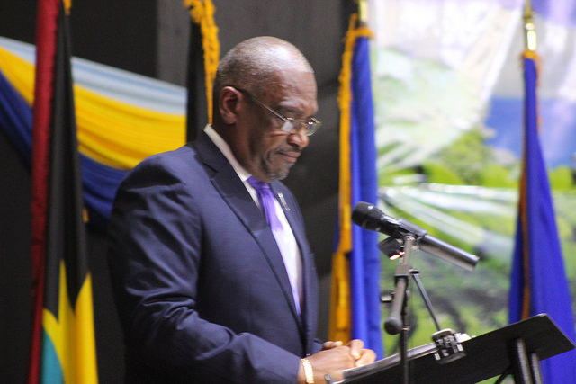 New Prime Minister of The Bahamas delivering his inaugural address to the Conference