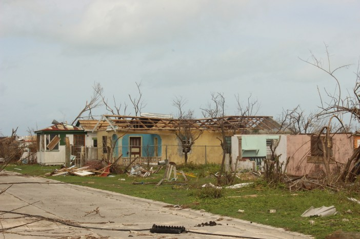 Damage in Barbuda after Hurricane Irma
