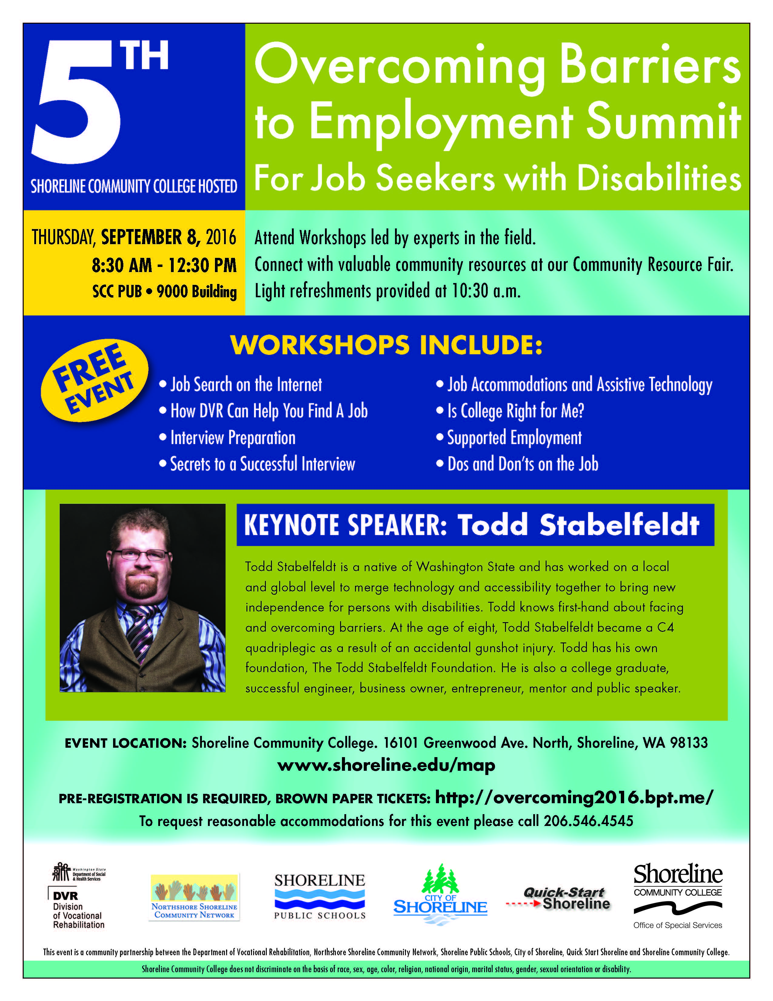 Overcoming barriers to employment summit sept